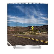 Texas River Road Shower Curtain