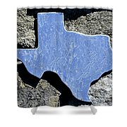 Texas Rocks Shower Curtain