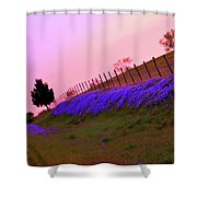 Texas Sherbet Country Shower Curtain