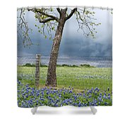 Texas Spring Storm Shower Curtain