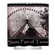 Texas Star Copper Poster Shower Curtain