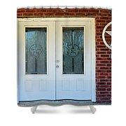 Texas Star Double Doors Shower Curtain