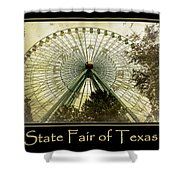 Texas Star Gold Poster Shower Curtain