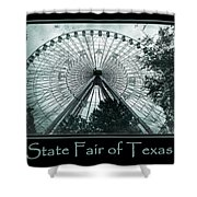 Texas Star Aqua Poster Shower Curtain