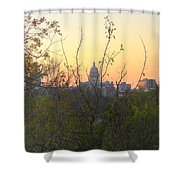 Texas State Capital From Far East Austin Shower Curtain