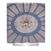 Texas State Capitol - Courtyard Floor Shower Curtain