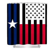 Texas State Flag Graphic Usa Styling Shower Curtain