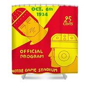 Texas Vs Notre Dame 1934 Program Shower Curtain