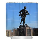 Texas War Memorial Shower Curtain