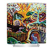 Texture Abstract  Shower Curtain