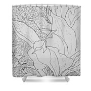 Texture And Foliage Shower Curtain