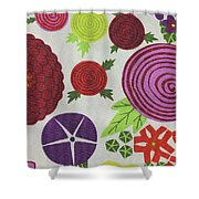 Texture Of Colored Fabric Shower Curtain