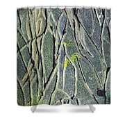 Texture Study One   Entanglement Shower Curtain
