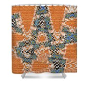 Textured Abstract # 2060ew4dt Shower Curtain