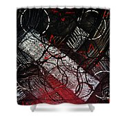 Textured Abstract Art Shower Curtain