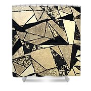 Textured Angles Shower Curtain