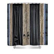 Textured Door Shower Curtain