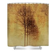 Textured Eerie Trees Shower Curtain