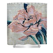 Textured Floral No.2 Shower Curtain by Writermore Arts
