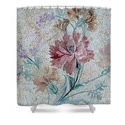 Textured Florals No.1 Shower Curtain by Writermore Arts
