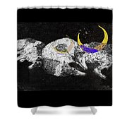 Textured Night For Borzoi Dogs Shower Curtain