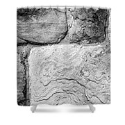 Textured Stone Wall Shower Curtain