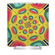 Textured Tropical Mandala Shower Curtain