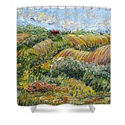 Textured Tuscan Hills Shower Curtain