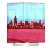 Textures Of Chicago Shower Curtain