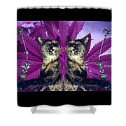 Tha 2piece Kitty Shower Curtain