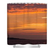 Thacher Island Lighthouse Panoramic Shower Curtain