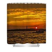 Thacher Island Lights Shower Curtain