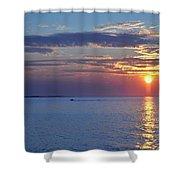 Thacher Island Twin Lights  Shower Curtain