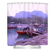 Thai Fishing Boats 05 Shower Curtain