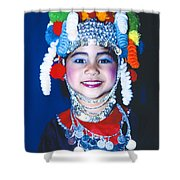 Thai Girl Traditionally Dressed Shower Curtain