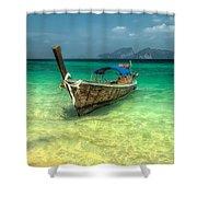 Thai Longboat  Shower Curtain