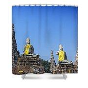 Thailand, Ayathaya Shower Curtain