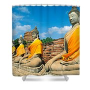Thailand, Ayathaya Shower Curtain