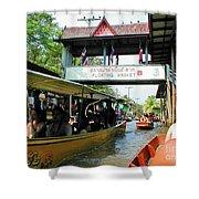 Thailand Floating Market Shower Curtain