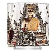 Thailand Gold Buddha Shower Curtain