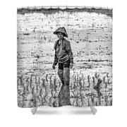 Thailand Rice Planter Shower Curtain
