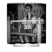 Thailands Long Neck Women Shower Curtain