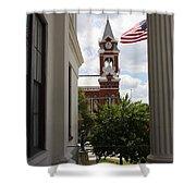 Thalian Hall Column Shower Curtain