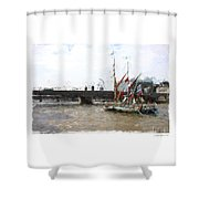 Thames Barges Shower Curtain