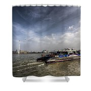 Thames Clipper And Cable Car Shower Curtain