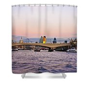 Thames Glow Shower Curtain
