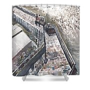 Thames Riverwalk Shower Curtain