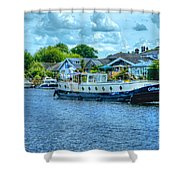Thames Tug Boat Shower Curtain