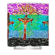 Thank God For Good Friday 3 Shower Curtain