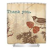 Thanks Shower Curtain